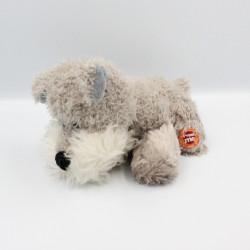 Doudou peluche chien gris qui aboie FIZZY
