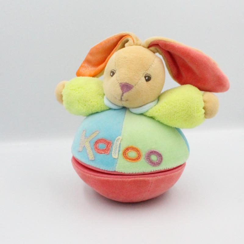 Doudou culbuto musical multicolore lapin KALOO