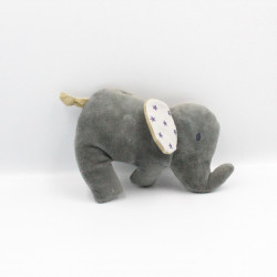 Doudou éléphant gris marron étoiles IKEA