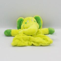 Doudou plat éléphant vert TIAMO