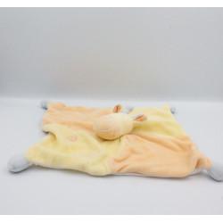 Doudou plat Girafe jaune orange JOLLYBABY