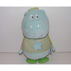 Doudou plat Hippopotame bleu P'TIT DODO