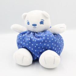 Doudou ours blanc bleu étoiles URIAGE