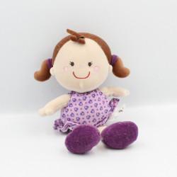 Doudou ma première poupée mauve violet coeur KIKOU