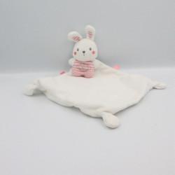 Doudou plat lapin blanc rose Like a muffin PREMAMAN