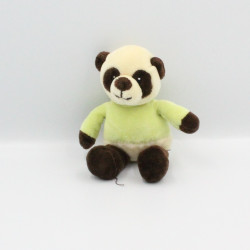 Doudou panda marron vert mouchoir TOODO