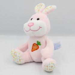 Doudou musical lapin rose pois carotte GIPSY
