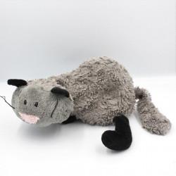 Doudou chat gris noir SIGIKID