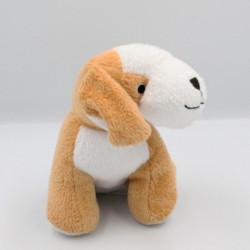 Doudou chien beige blanc HTI GROUP