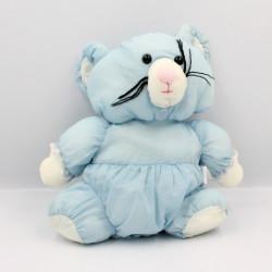 Peluche Puffalump souris bleu blanche