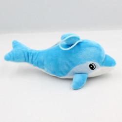 Doudou dauphin bleu blanc...