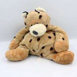 Doudou chat léopard beige marron CMP