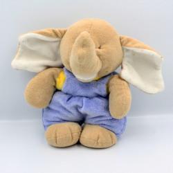 Doudou éléphant beige bleu jaune AJENA