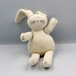 Doudou Lapin blanc laine PETIT BATEAU