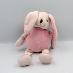 Doudou lapin rose rayé Baby nat