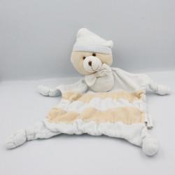 Doudou plat ours bleu beige...