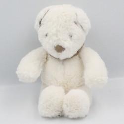 Doudou ours blanc bandanas beige NICOTOY