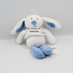 Doudou lapin blanc bleu BRIOCHE LA HALLE