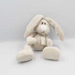 Doudou lapin beige blanc KIMBALOO