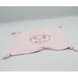 Doudou plat carré souris rose BABY KIMBALOO