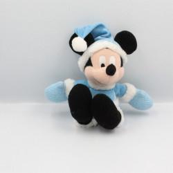 Peluche Mickey tenue hiver bleu neige DISNEY