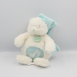Doudou musical ours Calins blanc bleu BABY NAT