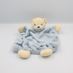 Doudou plat ours plume bleu KALOO