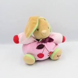 Doudou lapin rose vert...
