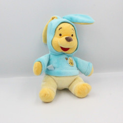Doudou Winnie l'ourson déguisé en lapin bleu Collection DISNEY NICOTOY
