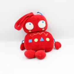 Doudou musical robot rouge bleu DPAM DU PAREIL AU MEME