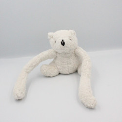 Doudou ours blanc long bras LISFRANC