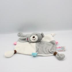 Doudou plat koala ours gris blanc Dodo d'amour MGM