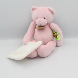 Doudou et compagnie ours rose mouchoir TATOO