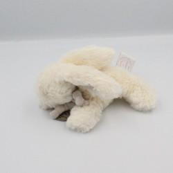 Doudou et compagnie lapin blanc gris tout doux Bonbon 15 cm
