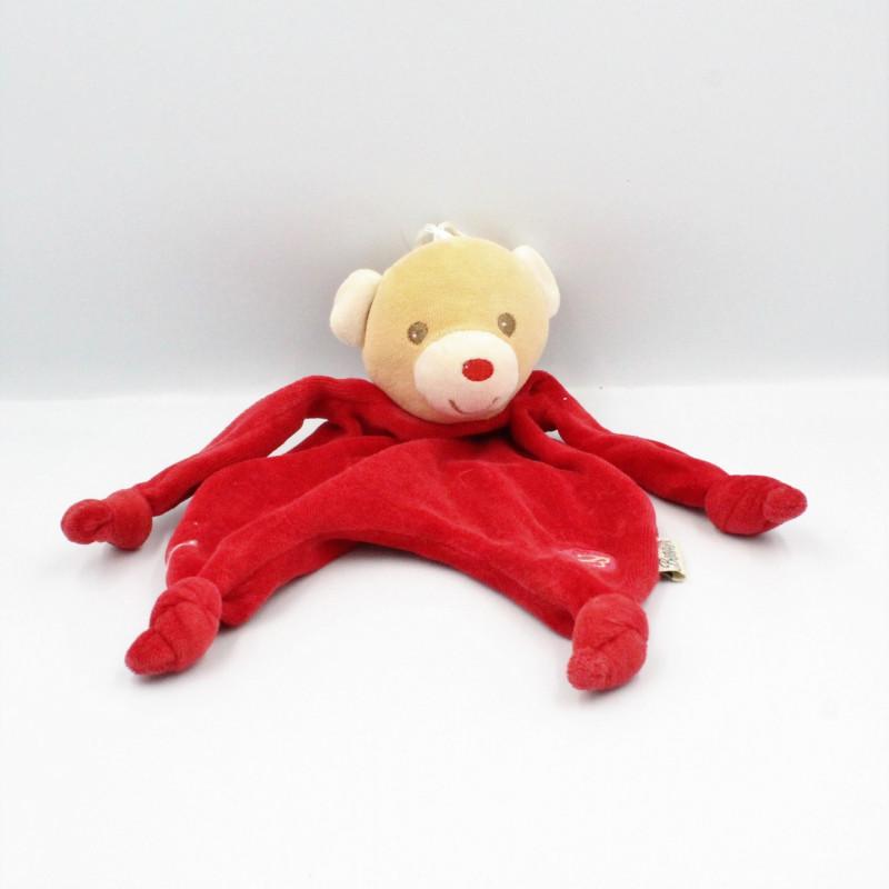 Doudou plat ours rouge BESTEVER 2009