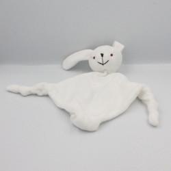 Doudou plat lapin blanc SOURCE MONT BLANC