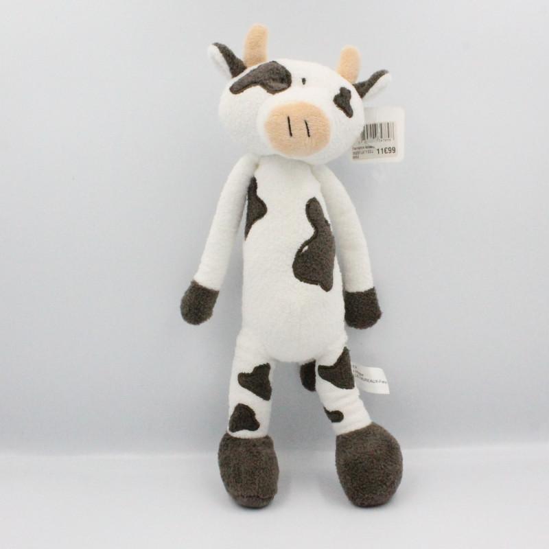 Doudou vache blanche marron MAXITA