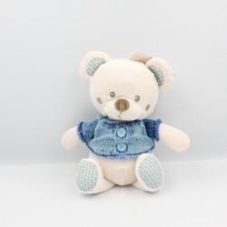 Doudou ours blanc beige bleu SIMBA TOYS NICOTOY