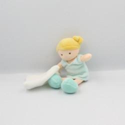 Doudou poupée fille bleu Chipie mouchoir BABY NAT