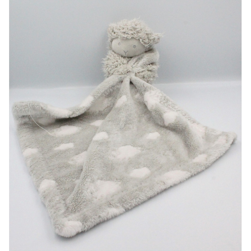 Doudou mouton gris couverture Mon Toudou Maison de Lilo