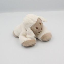 Doudou mouton blanc beige foulard pois NATTOU
