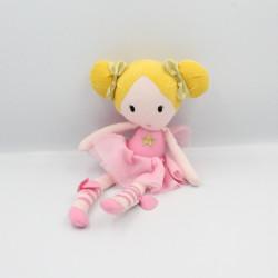 Doudou poupée robe rose nattes blonde ORCHESTRA PREMAMAN