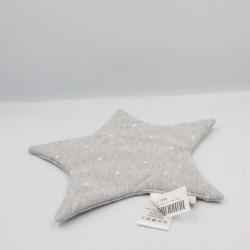 Doudou plat étoile grise CYRILLUS