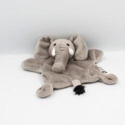 Doudou plat éléphant gris ZOOPARC BEAUVAL