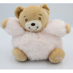 Doudou ours rose clair fourrure Fur KALOO