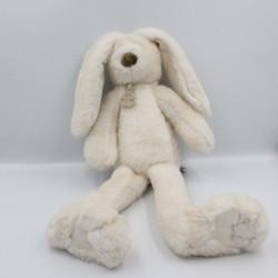 Doudou peluche lapin blanc marron HISTOIRE D'OURS