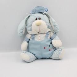 Peluche Puffalump lapin bleu blanc Gros Calins