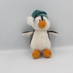 Doudou pingouin manchot bonnet bleu NICI