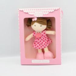 Doudou et compagnie poupée fille rose pois Demoiselle doudou