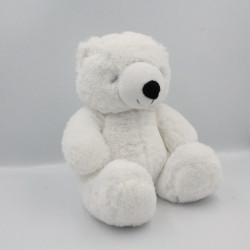 Doudou peluche ours blanc ZEEMAN